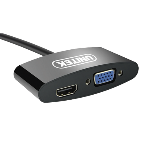 Unitek Mini Display Port To HDMI+VGA Converter (Y-6328BK)