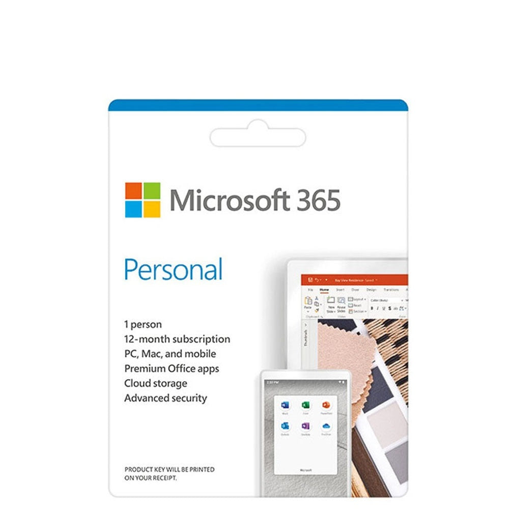 Discounted Microsoft 365 Personal Pocket Version (Retail Packaging, Delivery)