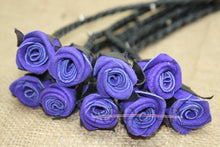 Leather Flogger Purple Rose & Steel Studded 09 Tails