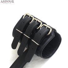 100% Genuine Leather Back Wrist / Arms Restraint Cuff Bondage Bicep Cuffs & Wrist Cuff