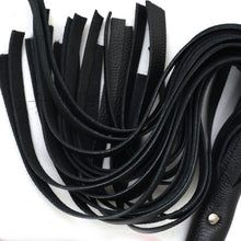 Steel Handle Leather Flogger Genuine / Real Thick Leather