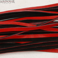 Real Cow Hide Leather Red & Black Double Pasted Leather Flogger
