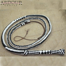 Genuine Leather Bullwhip 10 Feet Long 12 Plait Bull Whip