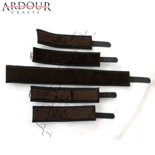 Real Cow Hide Leather Wrist & Ankle Cuffs 4 Pieces Set Restraints Hog Tie Fur