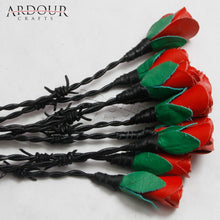 Red Rose & Thorn Leather Thorny Flogger 09 Tails