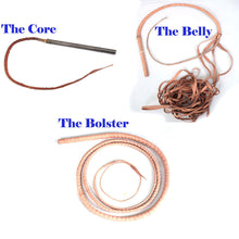 BULL WHIP 04 To 12 Feet 12 Plaits Cow Hide Black Color Leather CUSTOM BULLWHIP Belly and Bolster