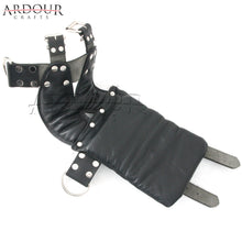 100% Real Leather Ankle Suspension Bondage Cuffs Strong Leather Padded Boot Cuffs for Bare Feet