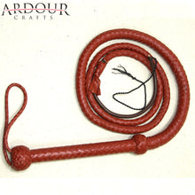 06 FeePlait Genuine Real Tan Leather Bull Whip Heavy Duty Bullwhip12