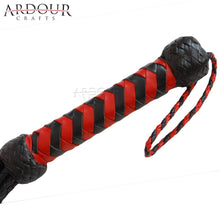 Red Rose Leather Flogger 09 Tails
