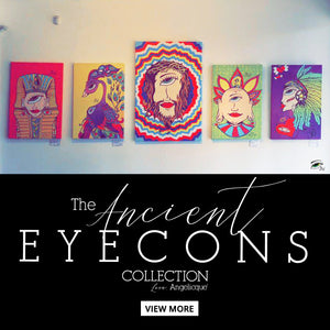 "The ""Ancient E Y E C O N S"" by Mystical Pop Artist Angelicque'"