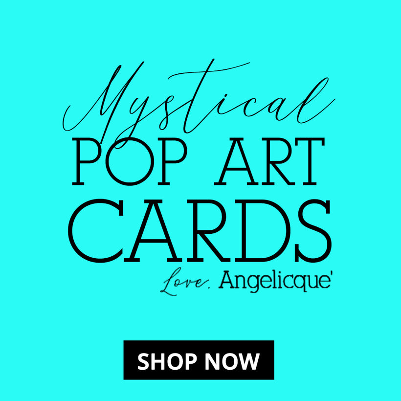 Mystical Pop Art Greeting Cards by Angelicque'