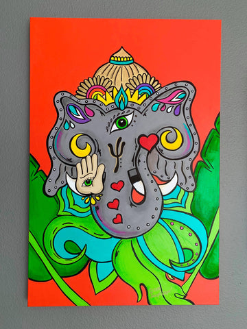 Mystical Ganesha by Angelicque'