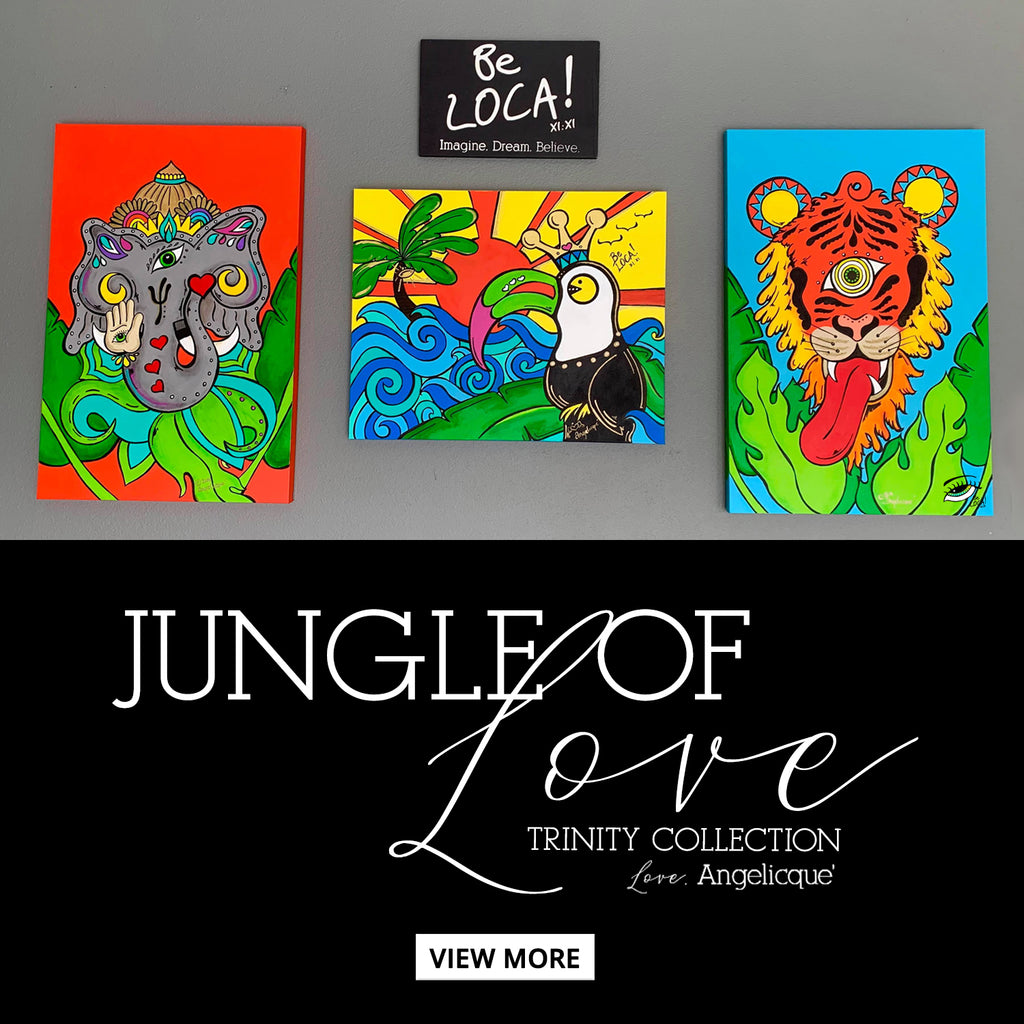 FINE ART | Jungle of Love Trinity by Angelicque'
