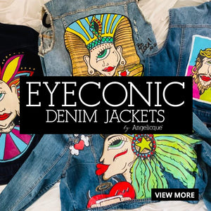 EYEconic Denim Jackets by Angelicque'