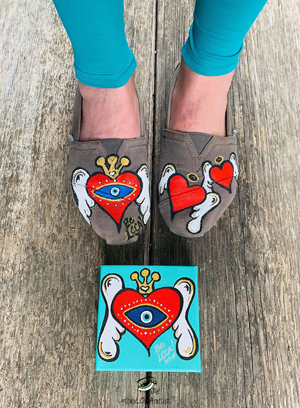 Make it POP | Toms Shoes by Angelicque'