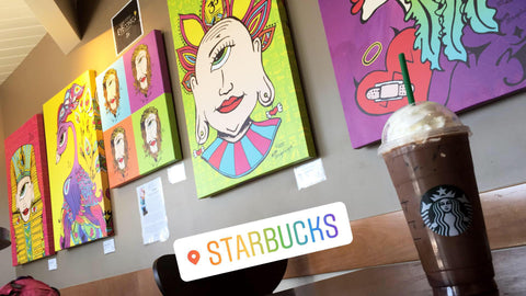 Make Today EYEconic at Starbucks, Summer Art Exhibition by