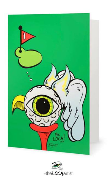The BirdEYE ⛳  | Mystical Pop Art Cards by Angelicque'