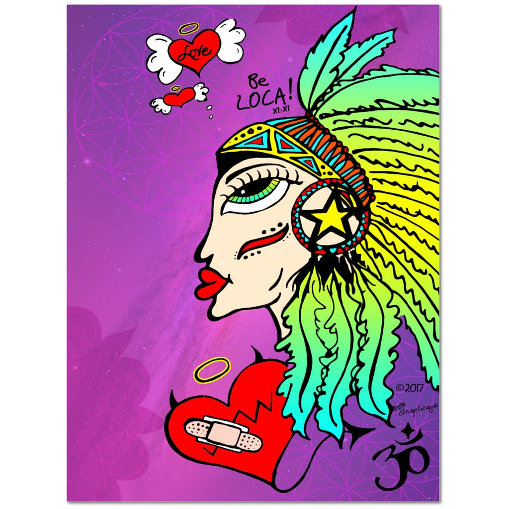 Mystical Shaman Goddess by Angelicque' | Gallery Canvas Print