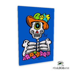 El Catrin Loco by Angelicque' | Gallery Canvas Print