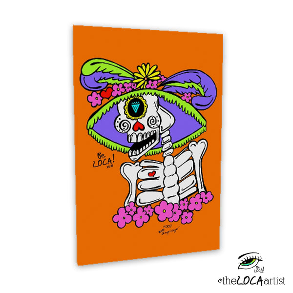 La Catrina Loca by Angelicque' | Gallery Canvas Print