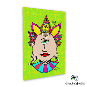 Mystical Minds Eye Buddah by Angelicque' |  Gallery Canvas Print