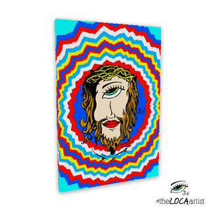 Mystical Peruvian Jesus by Angelicque' ~ Gallery Canvas Print