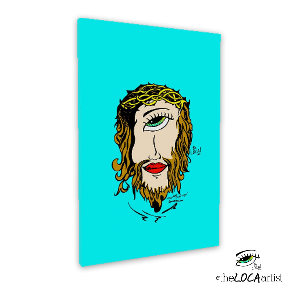 Mystical Mind's Eye Jesus by Angelicque' | Turqouise | Gallery Canvas Print