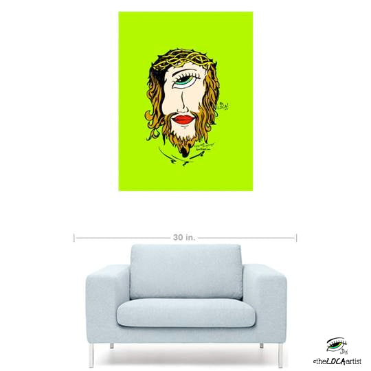 Mystical Mind's Eye Jesus by Angelicque' | Green | Gallery Canvas Print