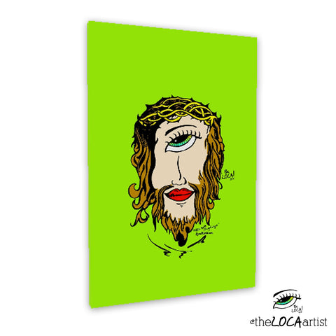 Mystical Jesus by Angelicque' ~ Green Gallery Canvas Print