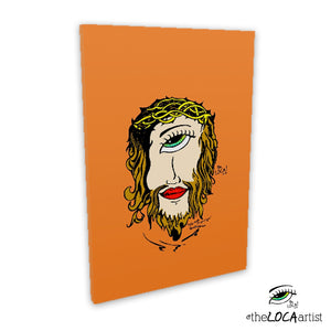 Mystical Jesus by Angelicque' ~ Orange Gallery Canvas Print