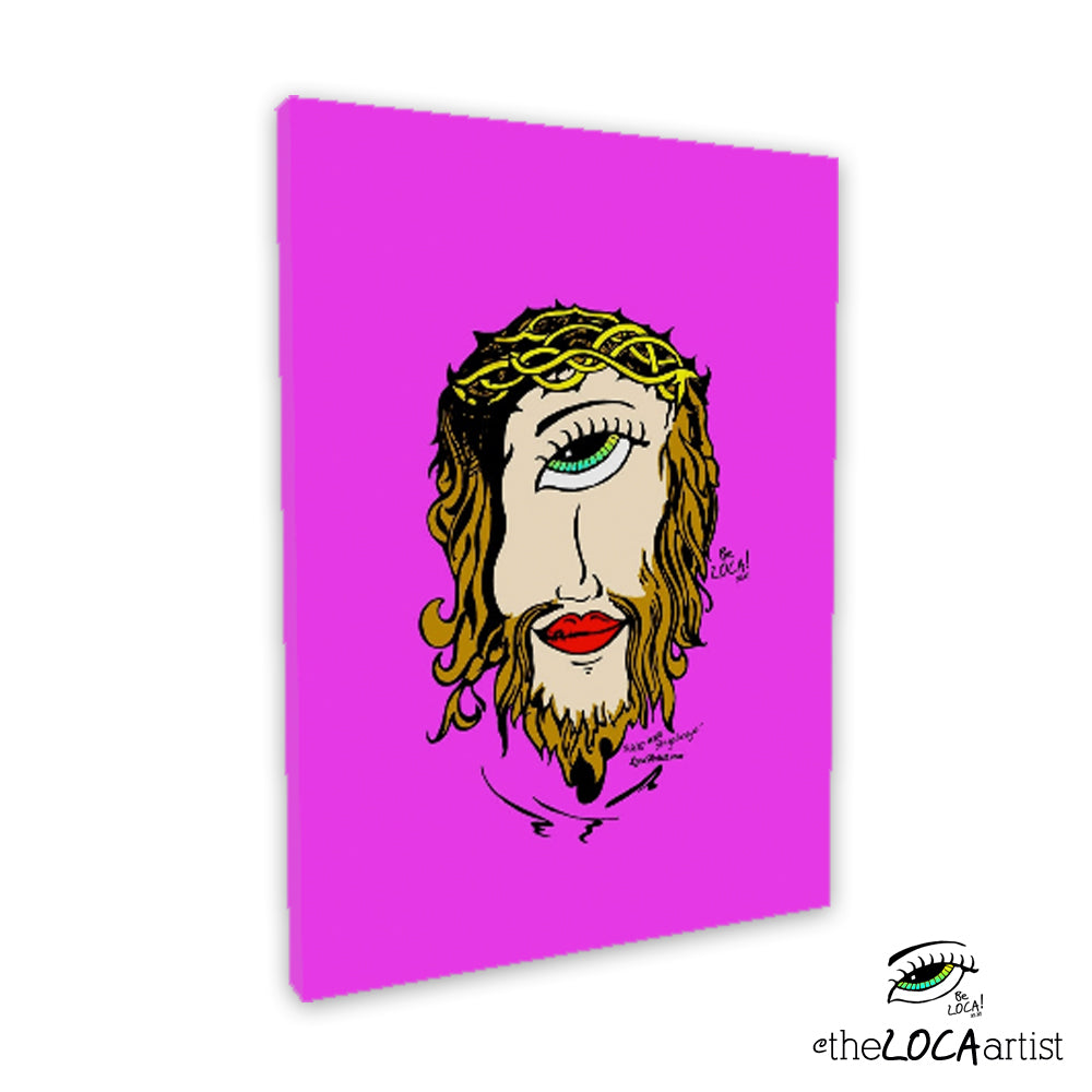 Mystical Mind's Eye Jesus by Angelicque' | Pink | Gallery Canvas Print
