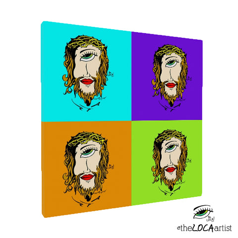 Mystical Mind's Eye Jesus Multi Pop by Angelicque' | Gallery Canvas Print