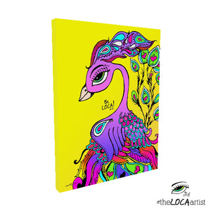 Mystical Mind's Eye Peacock by Angelicque' | Gallery Canvas Print