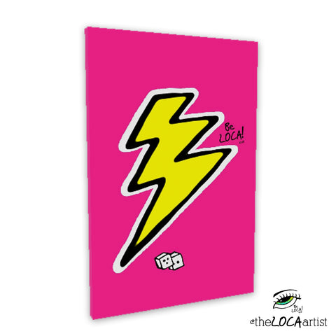Pink Lightning by Angelicque' | Gallery Canvas Print