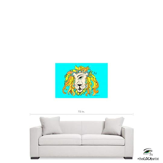 Leo The RastafarEYE Lion be Angelicque' ~ Gallery Canvas Print