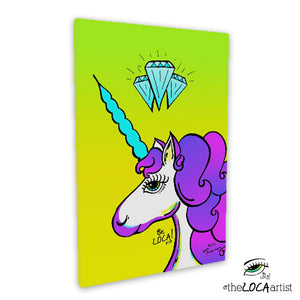 Diamond YOUnicorn by Angelicque' | Gallery Canvas Print
