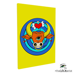 The Golden BullsEYE by Angelicque' | Gallery Canvas Print