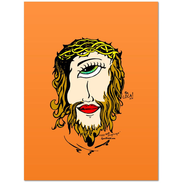 Mystical Mind's Eye Jesus by Angelicque' ~ Orange Gallery Canvas Print