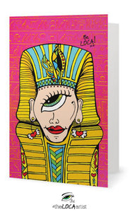 Mystical Mind's Eye King Tut | EYEconic Art Cards by Angelicque'