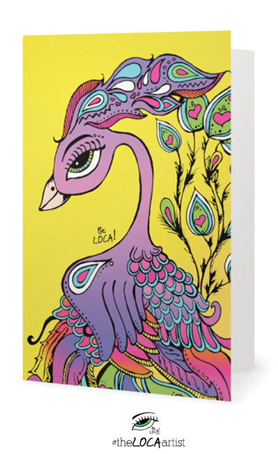 Mystical Mind's Eye Peacock | EYEconic Art Cards by Angelicque'