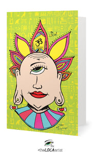 Mystical Mind's Eye Buddha | EYEconic Art Cards by Angelique'