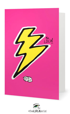 Pink Lightning | Art Cards by Angelicque'