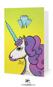 Diamond YOUnicorn | EYEconic Art Cards by Angelicque'