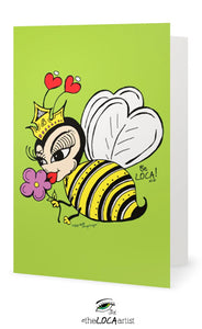 Bee the Queen | EYEconic Art Cards by Angelicque'