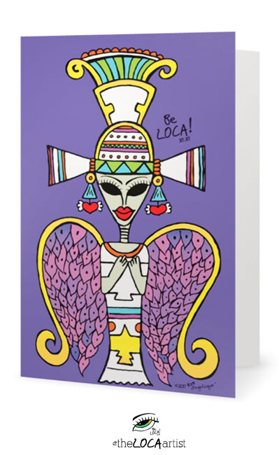Ancient Egyptian Alien | EYEconic Art Cards by Angelicque'