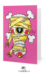 The MummEYE | Day of the Dead Collection | EYEconic Art Cards by Angelicque'