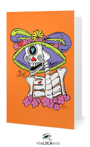 La Catrina Loca | Day of the Dead Collection | EYEconic Art Cards by Angelicque'