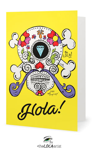 Hola Bebe Dali | Day of the Dead Collection | Art Cards by Angelicque'