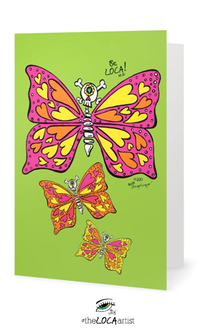 La Bonita ButterflEYE | Day of the Dead Collection | Art Cards by Angelicque'