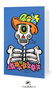 El Catrin Loco | Day of the Dead Collection | Art Cards by Angelicque'